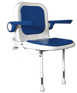 4000 Series Fold-up Shower Seat w/Back and Armrest