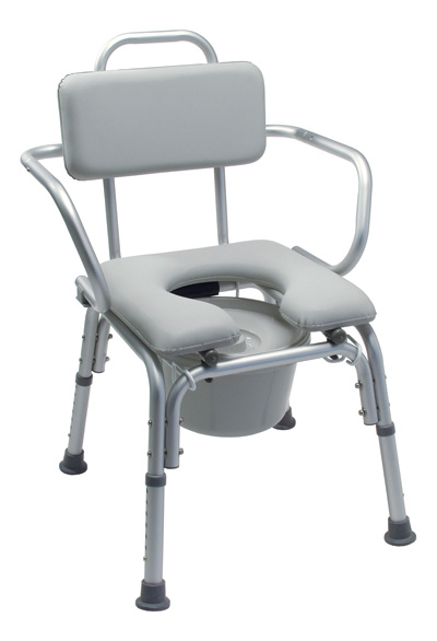 Platinum Collection Deluxe Padded Commode Bath Seat  w Arms. Bath Commode Chair Systems   Livewellmedical com