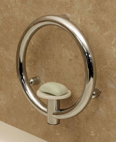 Accessories : Invisia Soap Dish with Integrated Grab Bar